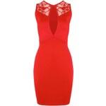 BOOHOO Červené body šaty Aisha