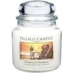 Village Candle Svíčka ve skle Christmas on the Beach - střední