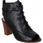 Firetrap Luciana Peep Toe Shoes, black