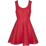 Topshop Airtex Fitted Skater Dress