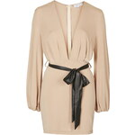 Topshop **Plunge Belted Mini Dress by Rare