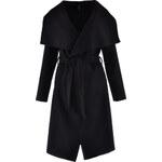 Dámský kabát s klopy černý Madonna