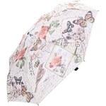 Krémový deštník s vintage potiskem Blooming Brollies