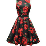 Lady V London Red Green Rose Floral Tea 46