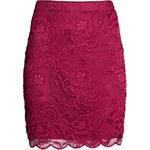 H&M Krátká krajková sukně