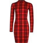 BOOHOO Červené kostkované šaty Hannah