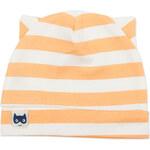 Pinokio Chlapecká pruhovaná čepice - oranžovo-bílá