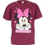 Character Club Dívčí vínové tričko s Minnie