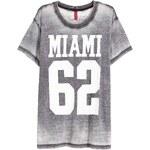 H&M Tričko s vypalovaným vzorem