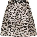 Topshop TALL Metallic Leopard Print A-Line Skirt