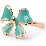 From Paris with Love! Very Vintage Sweet Bow ring Turquoise