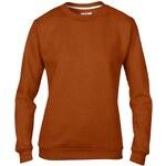 Basic mikina - Cihlově oranžová S