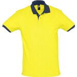 Hravá dvoubarevná polokošile - Žlutá a modrá XS