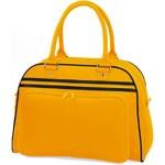 Prostorná retro taška - Žlutá a černá univerzal