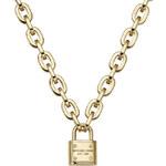 Masivní pozlacený náhrdelník se zámkem MICHAEL KORS MKJ3325710