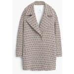 Mango Mozaikový bavlněný kabát