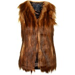 Topshop **Faux Fur Play Gilet By Unreal Fur