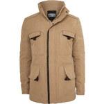 Urban Classics Down Parka Men Winter Jacket beige