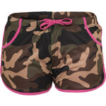 Urban Classics Ladies Camo Mesh Jersey Lined Hot Hotpant camouflage pink