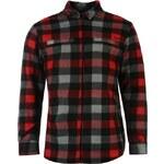 Košile pánská Lee Cooper Polar Fleece Charcoal/Red