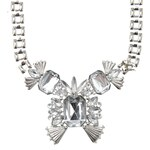 USC Gem Statement Necklace Silver N
