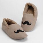 Amadeus Papuče Moustache Taupe, vel. 44/45