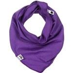 Lamama Dívčí šátek/nákrčník - tmavě fialový