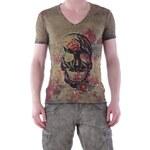 Pánské tričko Absolut Joy vzor 9 - Olivová / S