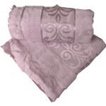 Confortmax Ručník 1ks Towel Velur Jacquard, cu franjuri, 50x90cm_dusty pink