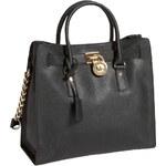 Michael Kors Elegantní kožená business kabelka Hamilton Large Leather Tote Black 30S2GHMT3L