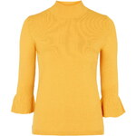 Topshop Fine Knit Fluted Cuff Jumper