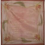 Hedvábný ručně malovaný šátek - KVĚTINY s věnováním, citátem nebo básní