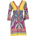 RICK CARDONA RICK CARDONA extravagantní návrhářské barevné šaty v letních barvách, letní šaty
