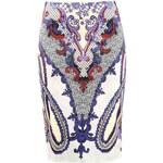 Alba Moda ALBA MODA luxusní návrhářská sukně, barevná sukně s potiskem
