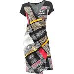 PATRIZIA DINI Luxusní dámské saténové šaty PATRIZIA DINI i pro plnoštíhlé, barevné šaty