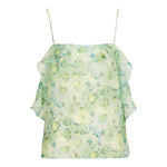 Topshop Floral Ruffle Cami