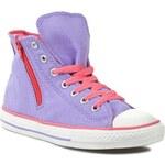 Plátěnky CONVERSE - CT Side Zip Hi 642914F Lavender Glo