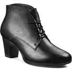 Polokozačky TAMARIS - 1-25109-23 Black Leather 003