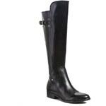 Kozačky ve vojenském stylu CLARKS - Licorice Rock 261042034 Black Leather