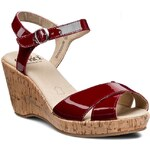 Sandály CAPRICE - 9-28352-24 Red Patent 505