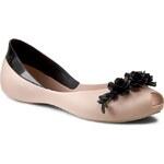 Baleríny MELISSA - AH+Melissa Flower Queen Ad 31662 Beige/Black 51485