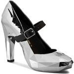 Polobotky UNITED NUDE - Lo Res Pump 1002914121 Steel Chrome