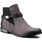 Kotníková obuv s elastickým prvkem CARINII - B3010 Samuel 1550/1/Classic Nero OC FILC