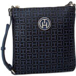 Kabelka TOMMY HILFIGER - Louise Flat Crossover AW0AW00893 Black/Midnight/Ensign Blue