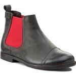 Kotníková obuv s elastickým prvkem ZARRO - 62/04 C. Szary/Czerwony