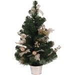 Malý vánoční stromeček zlatý, 60 cm, zelená