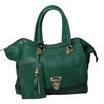 Lahvově zelená kabelka Bessie London