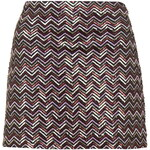 Topshop PETITE Zig-Zag Sequin Skirt