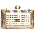 Love Moschino Crystal And Satin Box Clutch Bag
