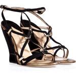 Paul Andrew Suede Trelissia Wedge Sandals
